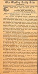 Newspaper- 1947 - The Shelby Daily Star - 100th Anniversary
