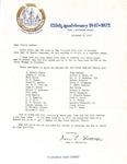 Correspondence- Nov 9 1972 - Gene Watterson -125th Anniversary- Deacons by Gene L. Watterson