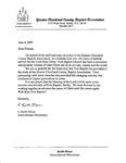 Correspondence- June 6 2007- Keith Dixon (GCCBA)- 160th Anniversary