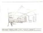 1973- Sanctuary Renovations Floor plans by Wilber, Kendrick, Workman, Warren Architects