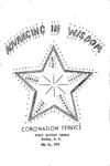 Advancing in Wisdom Coronation Service 1967