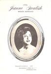Jeanne Grealish Concert 1971
