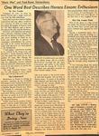 Magazine - Biblical Recorder- Dec 11 1965 - Horace Easom by Alex Vaughn