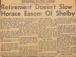 Newspaper - The Shelby Daily Star- Feb. 1 1963 - Horace Easom
