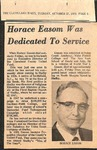 Newspaper- The Cleveland Times - Oct 27 1970 - Horace Easom by The Cleveland Times