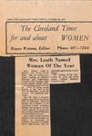 Newspaper- The Cleveland Times- Oct. 20 1972 - Roland Leath by The Cleveland Times