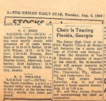 Newspaper - The Shelby Daily Star - Aug 6 1968 - Van Ramsey