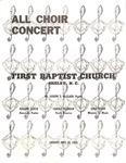 All Choir Concert May 22, 1966
