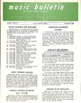 Music Bulletin December 1968