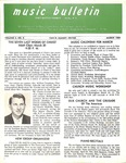 Music Bulletin March 1969