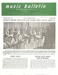 Music Bulletin March 1970