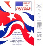 Sing Out for Freedom 1968 by First Baptist Church Shelby
