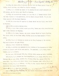 History of the Women's Missionary Union at First Baptist Church Shelby by Mrs. John Wacaster