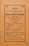 1936 Minutes of the Ebenezer Missionary Baptist Association by Ebenezer Missionary Baptist Association