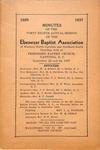 1937 Minutes of the Ebenezer Missionary Baptist Association by Ebenezer Missionary Baptist Association