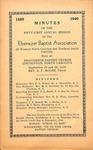 1940 Minutes of the Ebenezer Missionary Baptist Association by Ebenezer Missionary Baptist Association