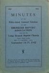 1942 Minutes of the Ebenezer Missionary Baptist Association