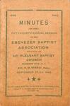 1943 Minutes of the Ebenezer Missionary Baptist Association by Ebenezer Missionary Baptist Association