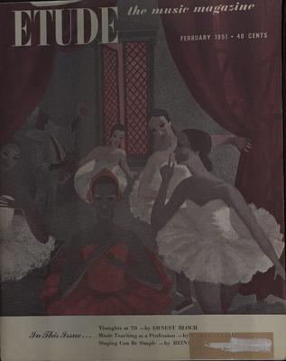Etude Magazine 1883-1957 | John R  Dover Memorial Library