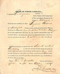 Legal Document - 1837 - Letter of Administration of Benjamin Andrews Estate by Unknown