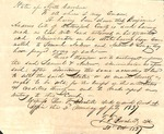 Document - 1837 - Order of Sale of Estate of Benjamin Andrews by Unknown