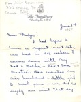 Correspondence - 1950, June 1 - Evelyn Bostic Garrison (Madge) by Evelyn Bostic Garrison