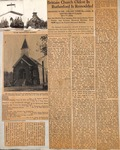 News Clipping - Brittain Church Oldest in Rutherford is Remodeled by Unknown