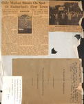 Scrapbook Page - Only Marker Stands on Sport of Rutherford's First Town by Fay Webb Gardner