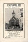 Worship Bulletin - 1941, January 12 - Re-dedication Service Brittain Presbyterian Church