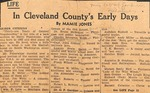 Charles Spurgeon Webb - Cleveland County Early Days clipping