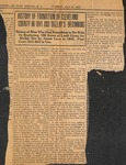 News Clipping - 1924, May 20 - History of the Formation of Cleveland County in 1841 and Shelby's Beginning by Unknown