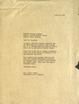 Correspondence - 1954, June 12 - Aileen Gamble, Secretary to FWG by Aileen Gamble