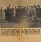 News Clipping - 1961, February, 16 - Ground Breaking Services (Forest City Courier) by Forest City Courier