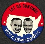 1964 Johnson-Humphrey Campaign Button