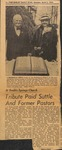 News Clipping - 1954, April 5 - Tribute Paid Suttle and Former Pastors