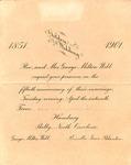 1901 - Anniversary Invitation - G. M. Webb Wedding