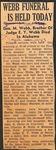 1943, April 12 - News clipping - George Milton Webb Jr. Funeral