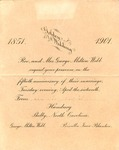 1901 - G. M. Webb Wedding Anniversary Invitation