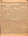 News Clipping - Cleveland County Early Days - James Love's Grant to the City of Shelby by Mamie Jones