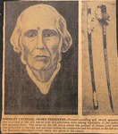 News Clipping - James Ingram Love Portrait and Sword by Unknown