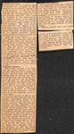 """News Clipping - Undated - """"The Survey; Needed Deeds"""" by Unknown"""