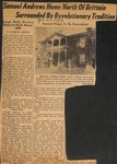 News Clipping - 1953, January 11 - Samuel Andrews Home of North Brittain Surrounded by Revolutionary Tradition