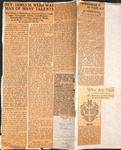 News clippings - James Milton Webb Scrapbook by Fay Webb Gardner