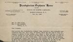 Correspondence - 1938, February 16 - Presbyterian Orphans' Home by Presbyterian Orphans' Home of the Synod of North Carolina