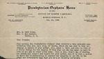 Correspondence - 1938, February 16 - Presbyterian Orphans' Home