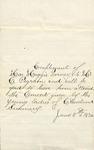Correspondence - 1874, June 11 - Miss Maggie Horney - T. C. Pegram