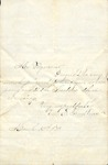 Correspondence - March 12, 1873 - Velle E. Andrews - T. C. Pegram