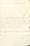 Correspondence - March 6, 1873 - Miss Velle Andrews - T. C. Pegram