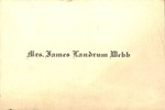 Documents - Place Card - Kansas Love Andrews by Unknown