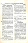The Love Family Historical & Genealogical Quarterly (Vol. 3. No. 1)